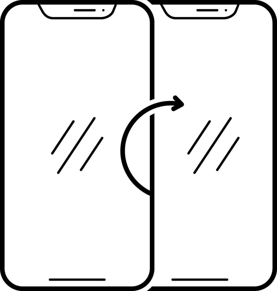 lijnpictogram voor telefoon synchroniseren vector