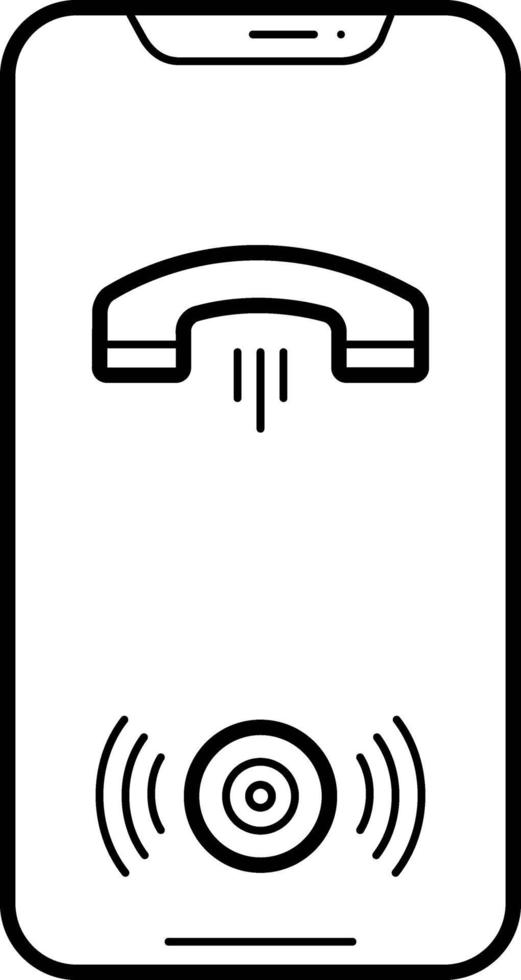 lijnpictogram voor oproep op luidspreker vector