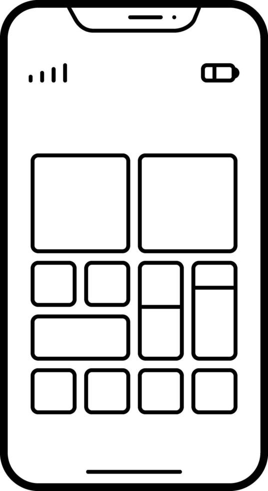 lijnpictogram voor startscherm vector