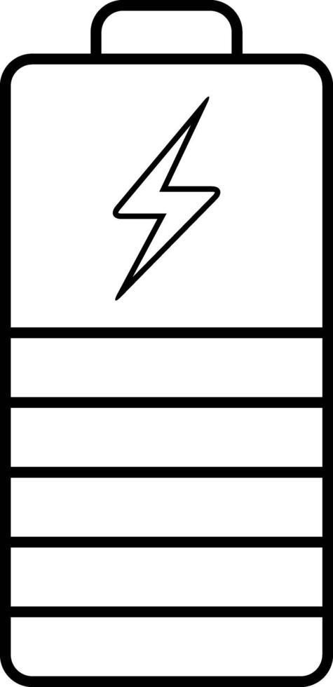 lijnpictogram voor batterij-indicator vector
