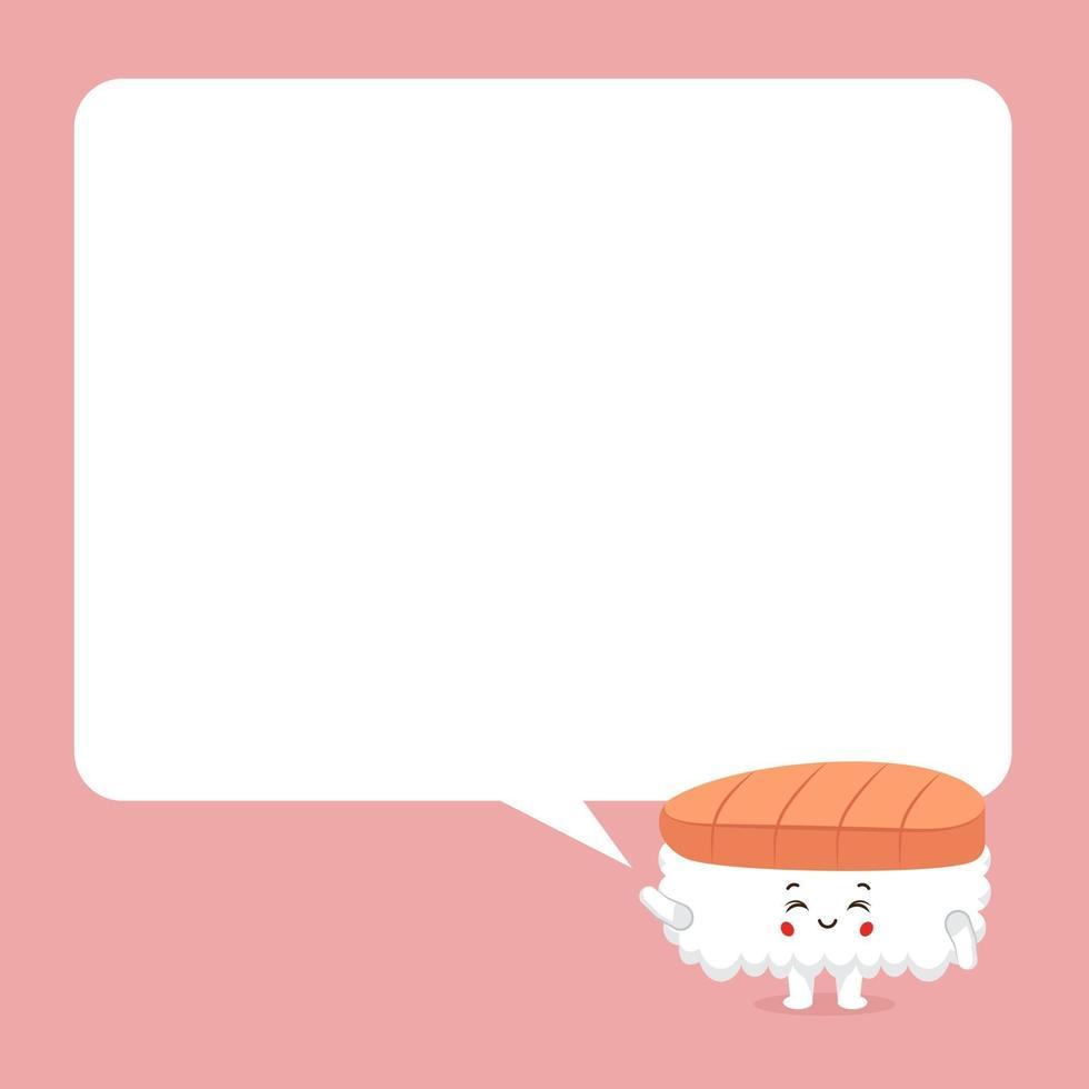 schattige sushi met tekstballonnen vector