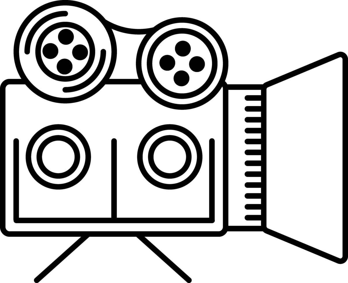 lijnpictogram voor filmdocumentaires vector