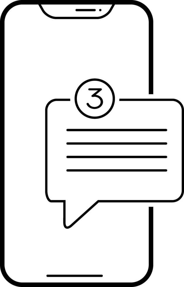lijnpictogram voor app voor nieuwe berichten vector