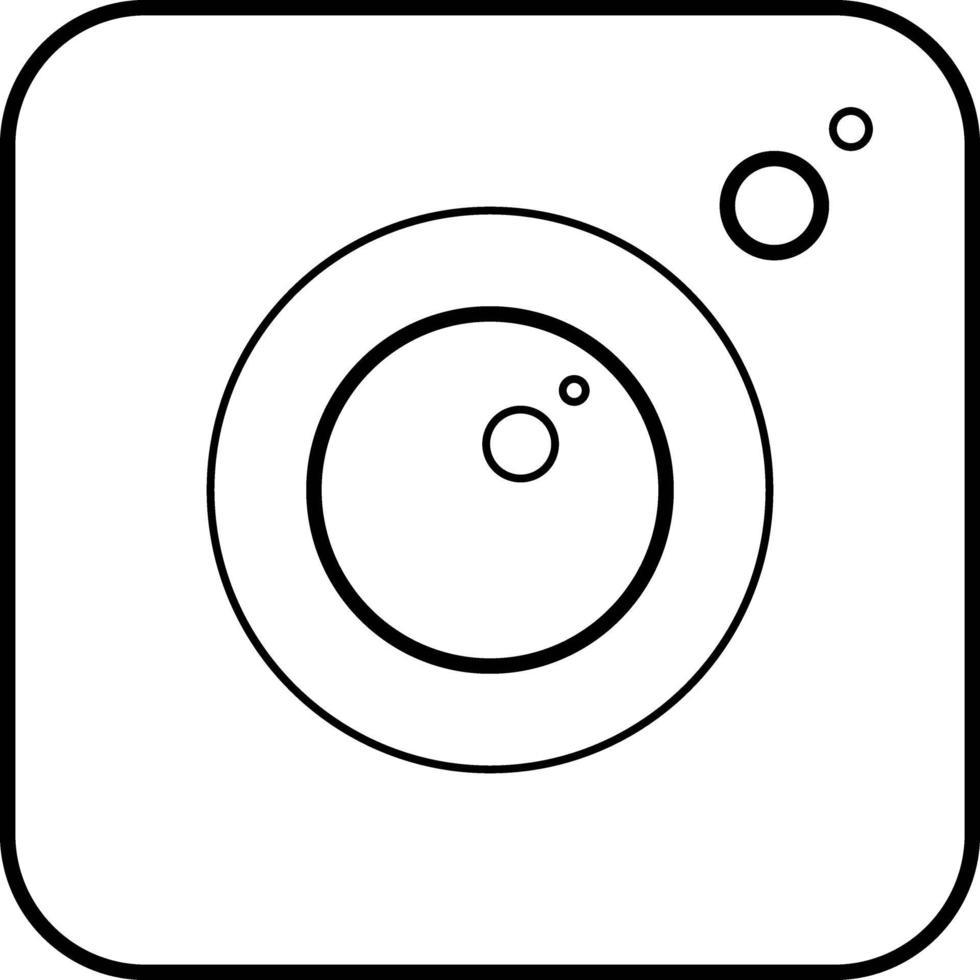 lijnpictogram voor camera-app vector