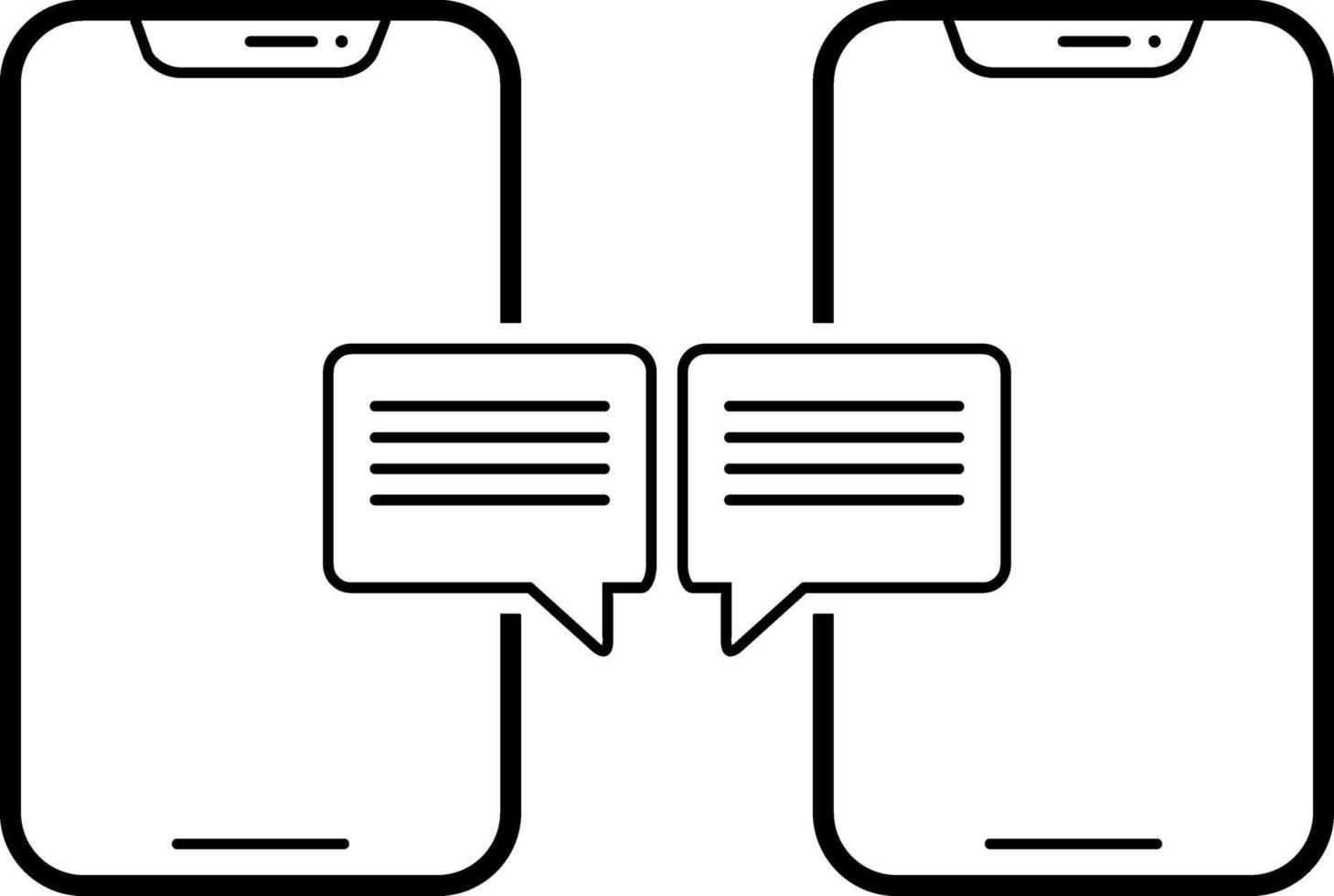 lijn pictogram voor gesprek vector
