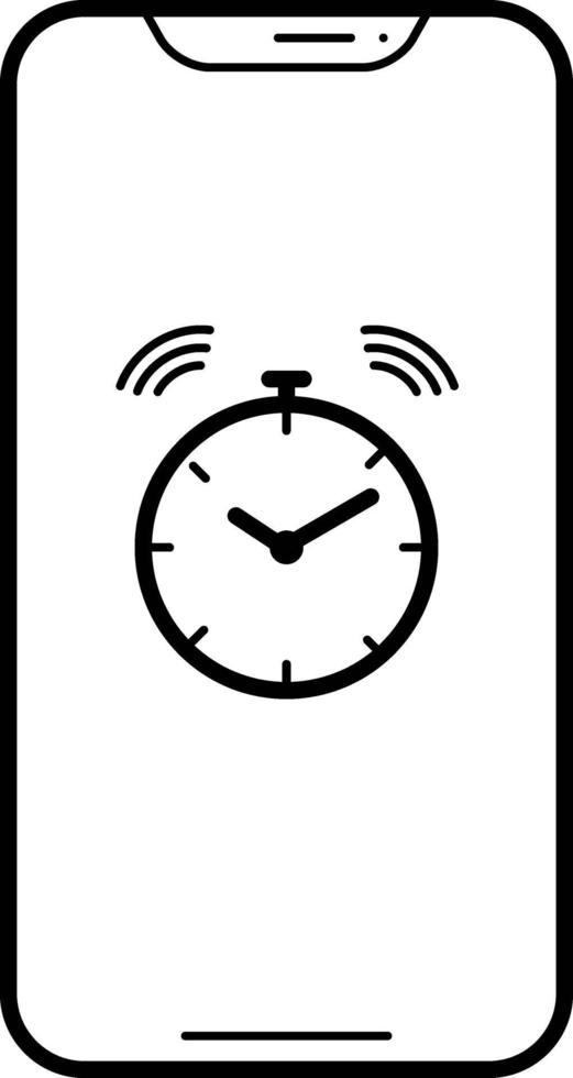 lijnpictogram voor alarm vector