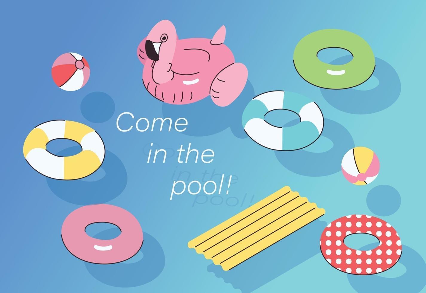zomer waterspelletjes. hand getrokken stijl vector ontwerp illustraties.
