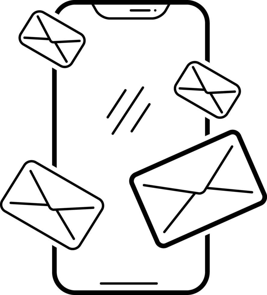 lijnpictogram voor e-mailapp vector