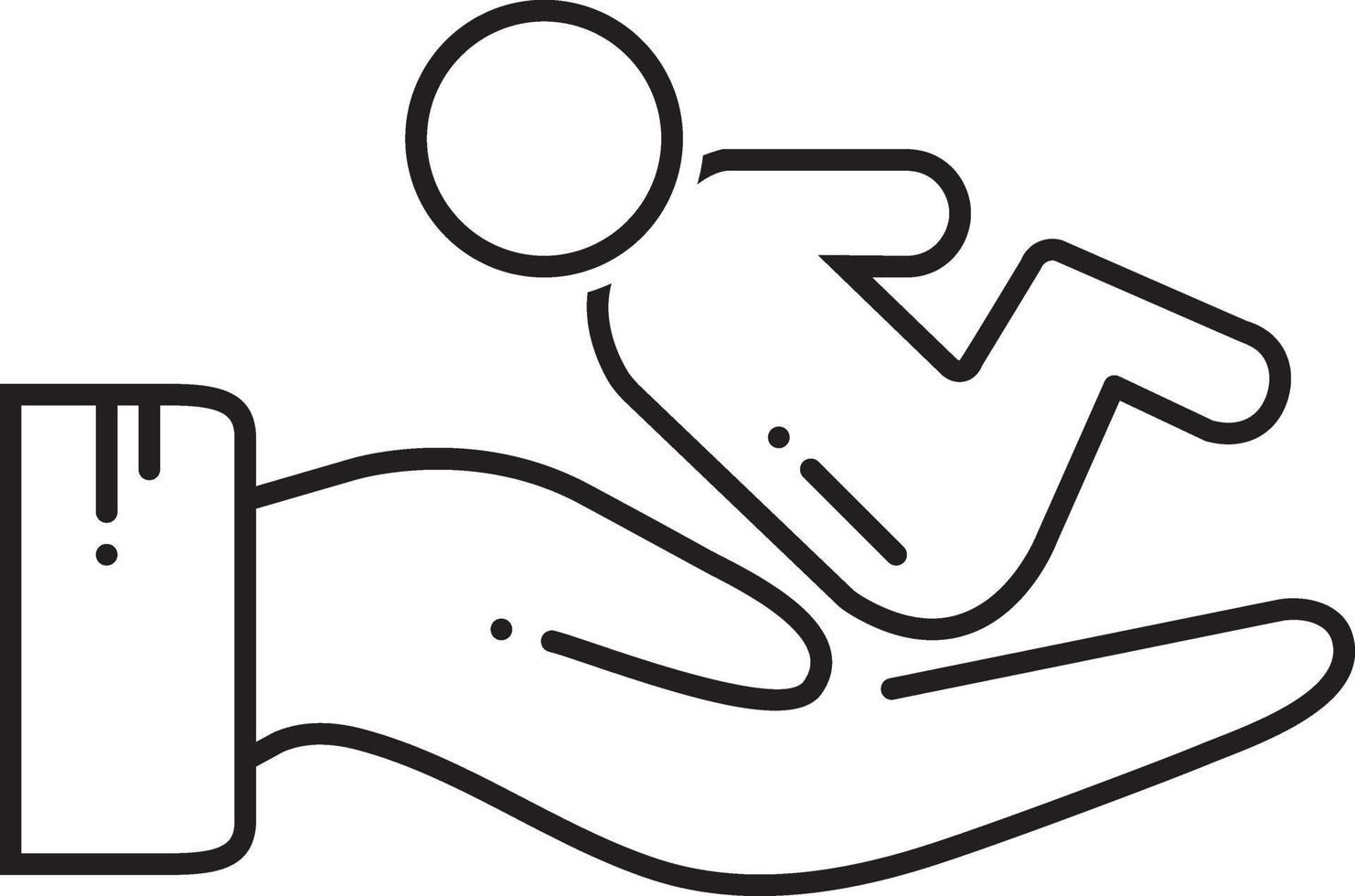 lijnpictogram voor postnataal vector