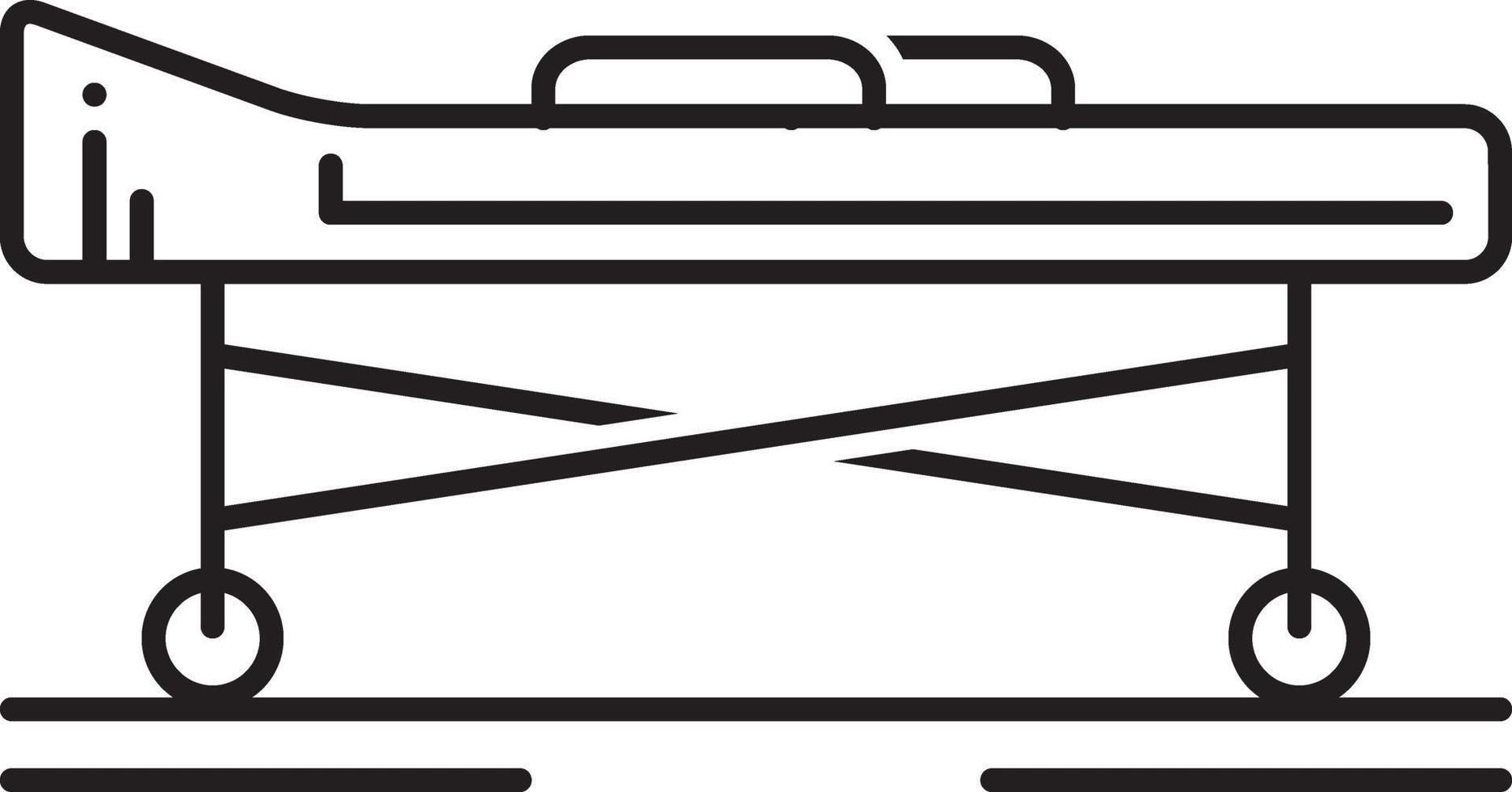 lijn pictogram voor brancard vector