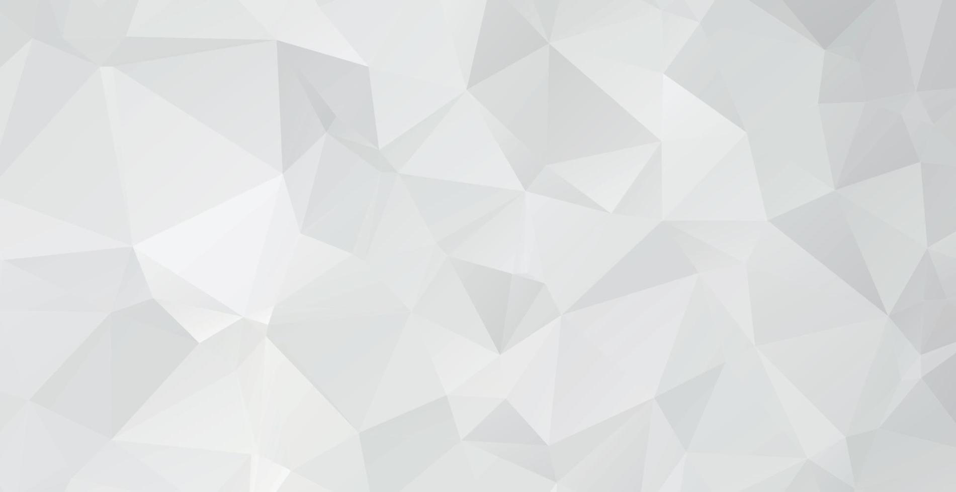 abstracte wit-grijze achtergrond, veel verschillende grootte driehoeken - vector
