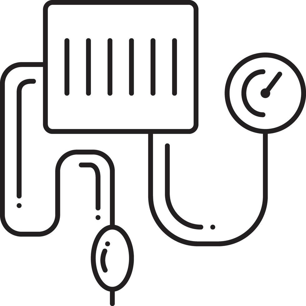 lijn pictogram voor bloeddruk kit vector