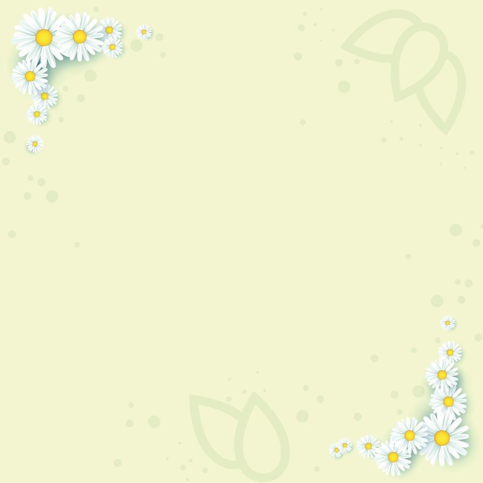 abstracte realistische achtergrond sjabloon met bloemen - vector