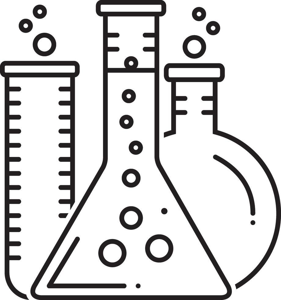 lijn pictogram voor laboratorium vector