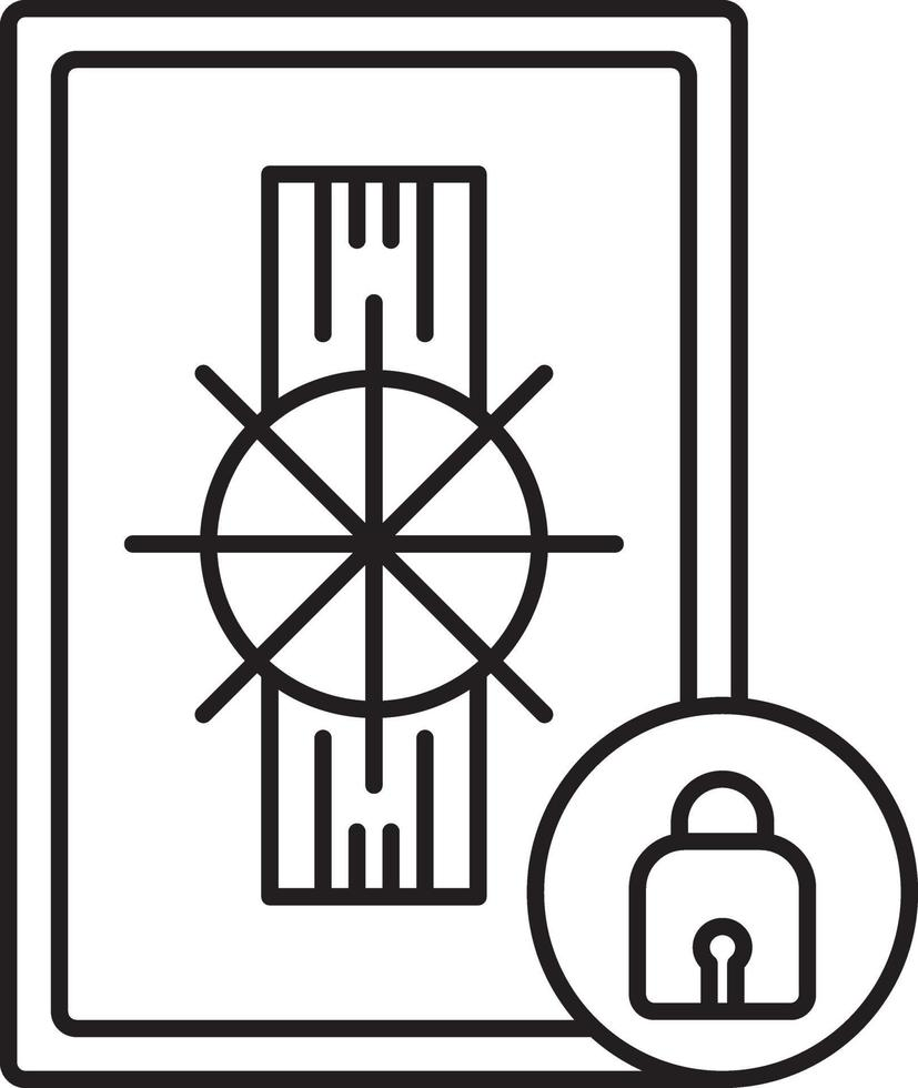 lijn pictogram voor veiligheid vector