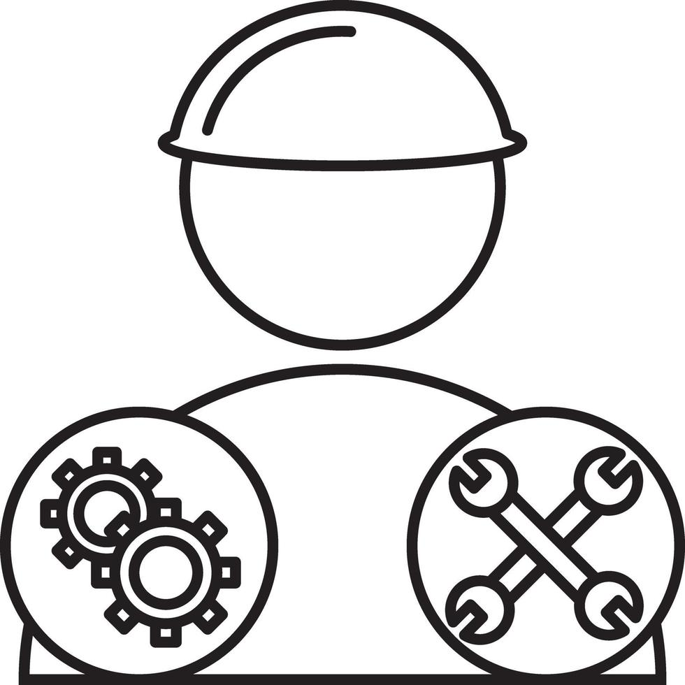 lijnpictogram voor mechanica vector