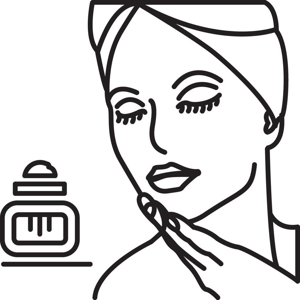 lijn pictogram voor schoonheid vector