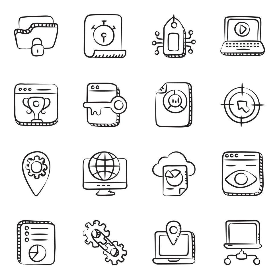 moderne seo en web vector