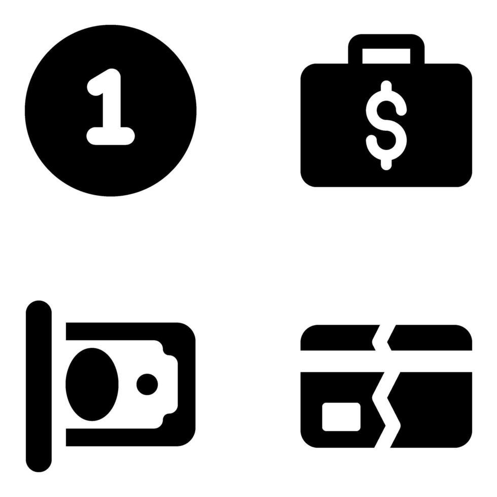 zakelijk en financieel element vector