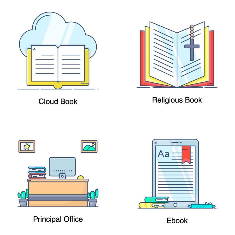 moderne onderwijstechnologie vector
