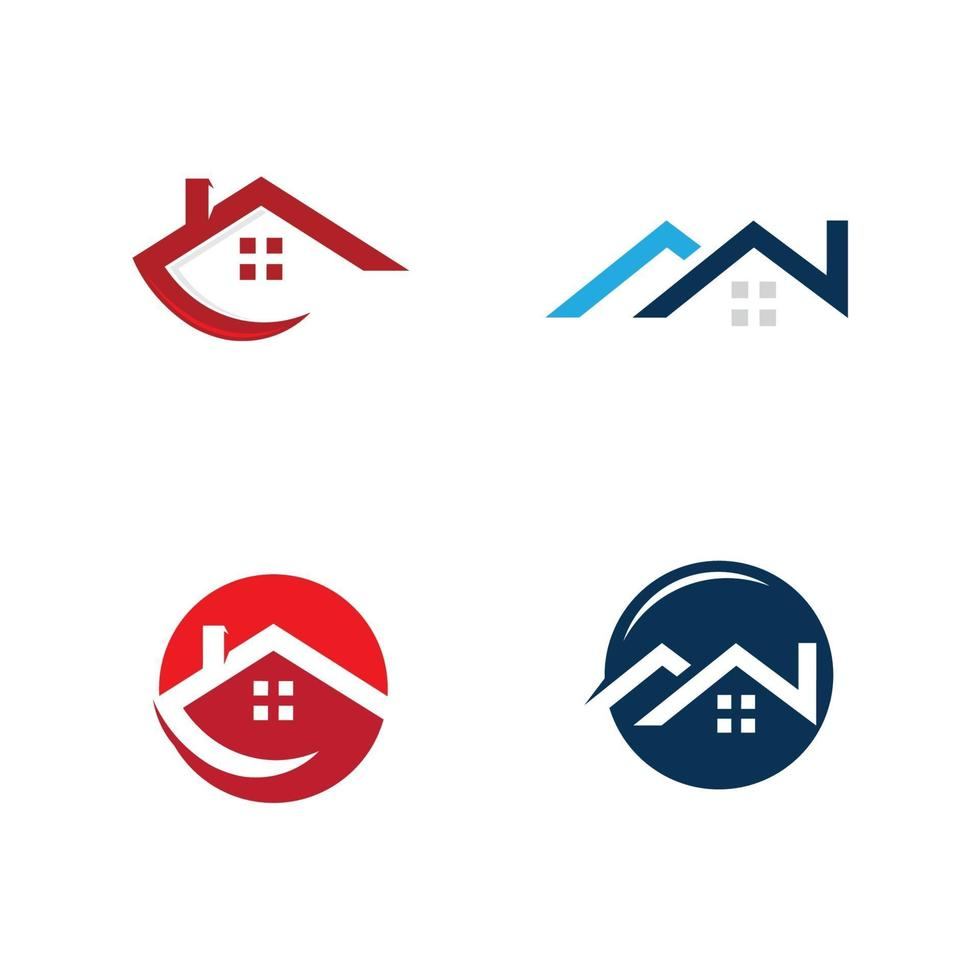 onroerend goed logo ontwerp, bedrijf teken. logo vector