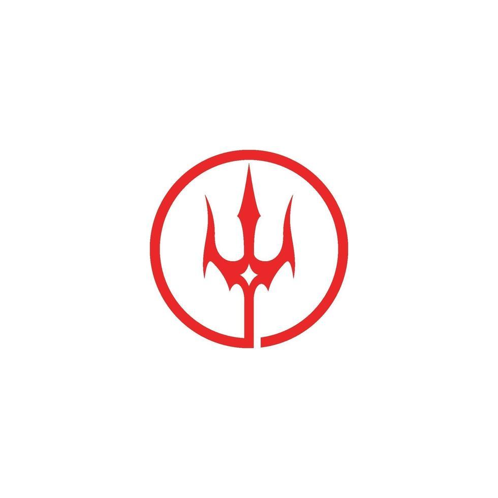 magisch drietand-logo vector