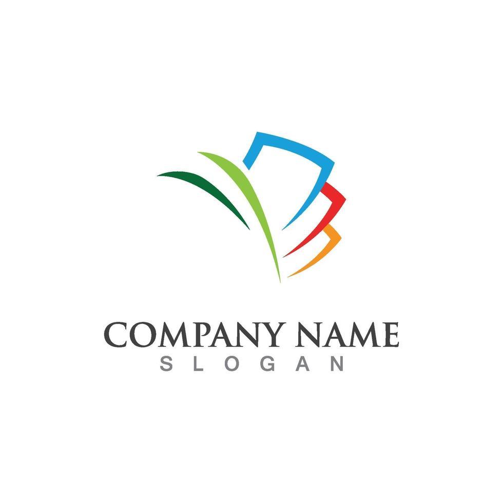 bedrijfsfinanciën professioneel logo vector