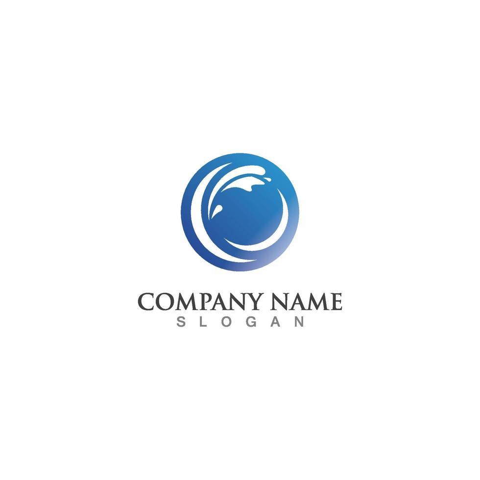 water Golf pictogrammalplaatje logo vector