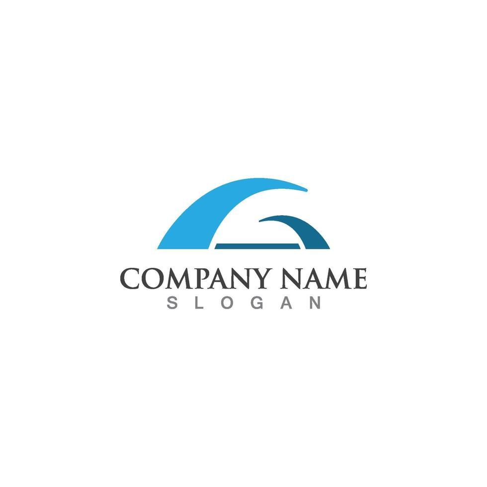brug logo sjabloon vector pictogram illustratie ontwerp