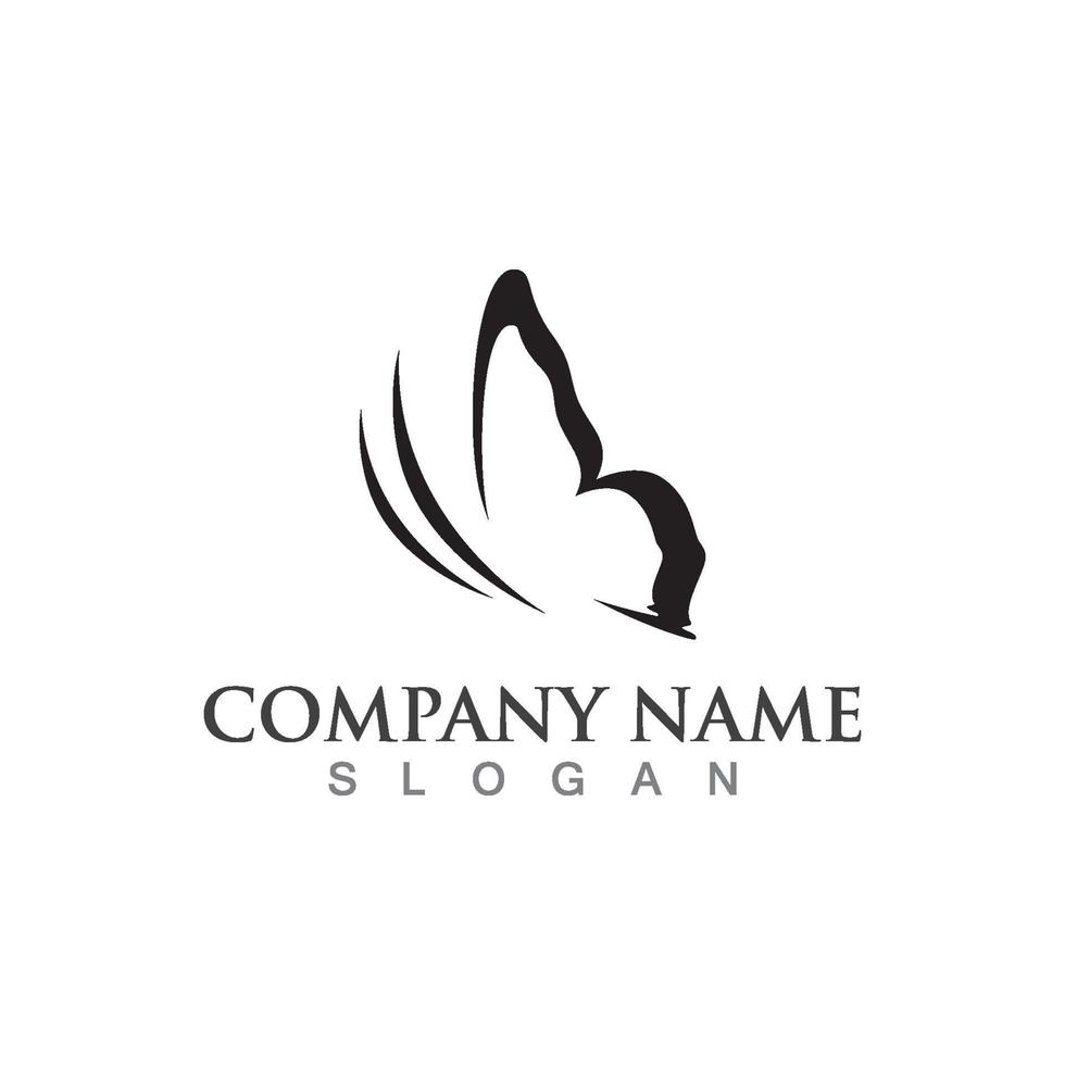 schoonheid vlinder logo sjabloon vector pictogram ontwerp