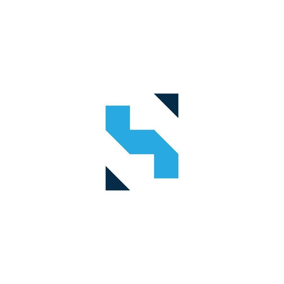 hs brief logo sjabloon ontwerp vectorillustratie vector