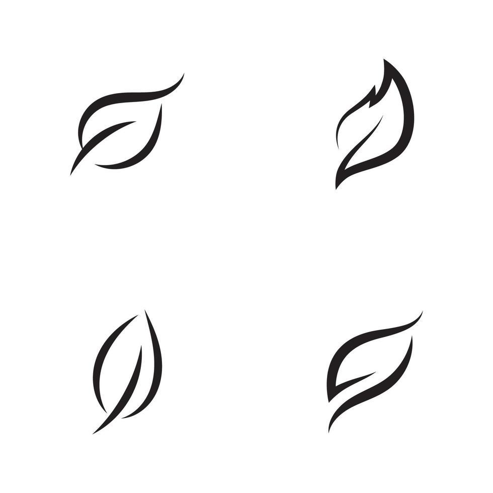 ecologie pictogram groen blad vector illustratie ontwerp