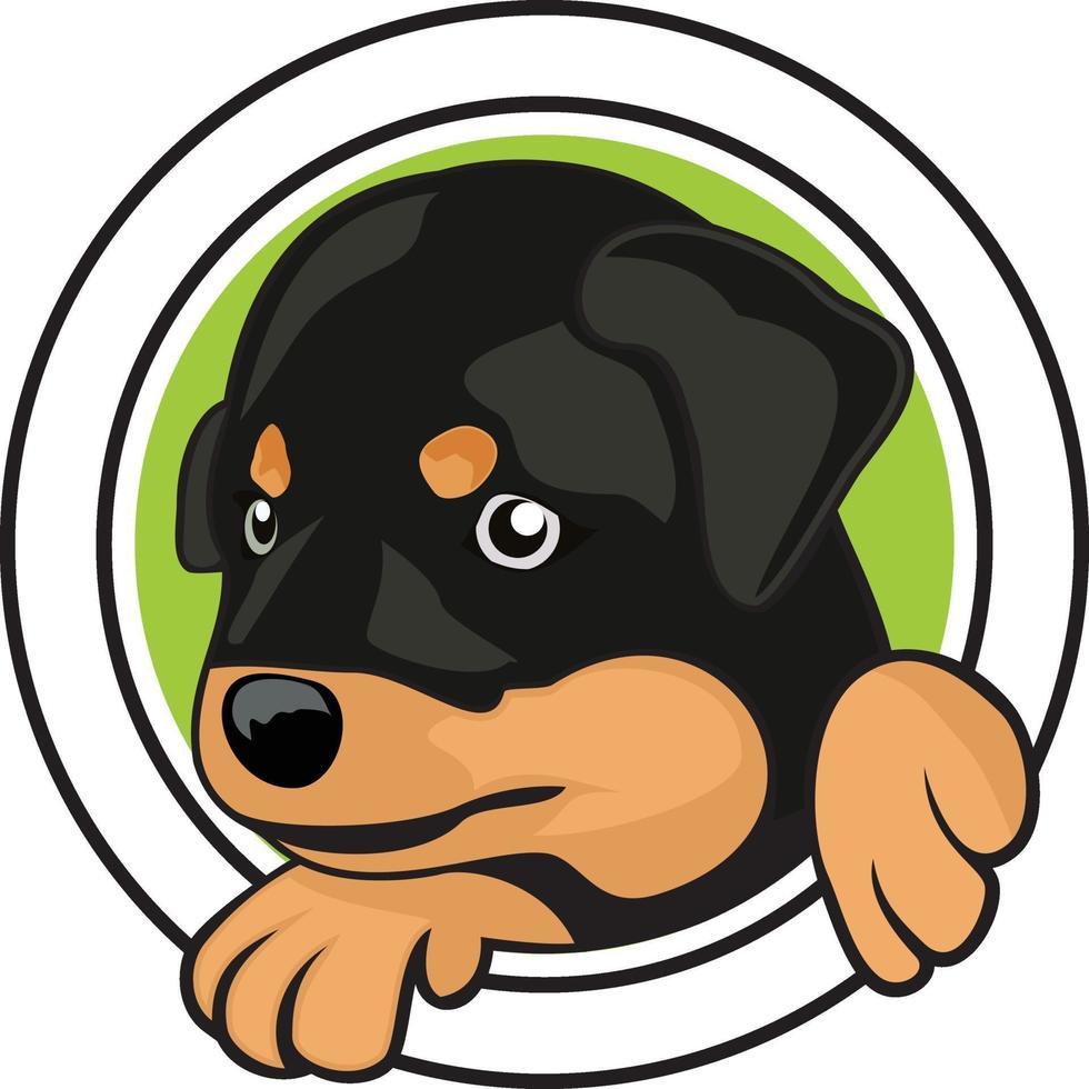ontwerp van hond hoofd karakter illustratie vector