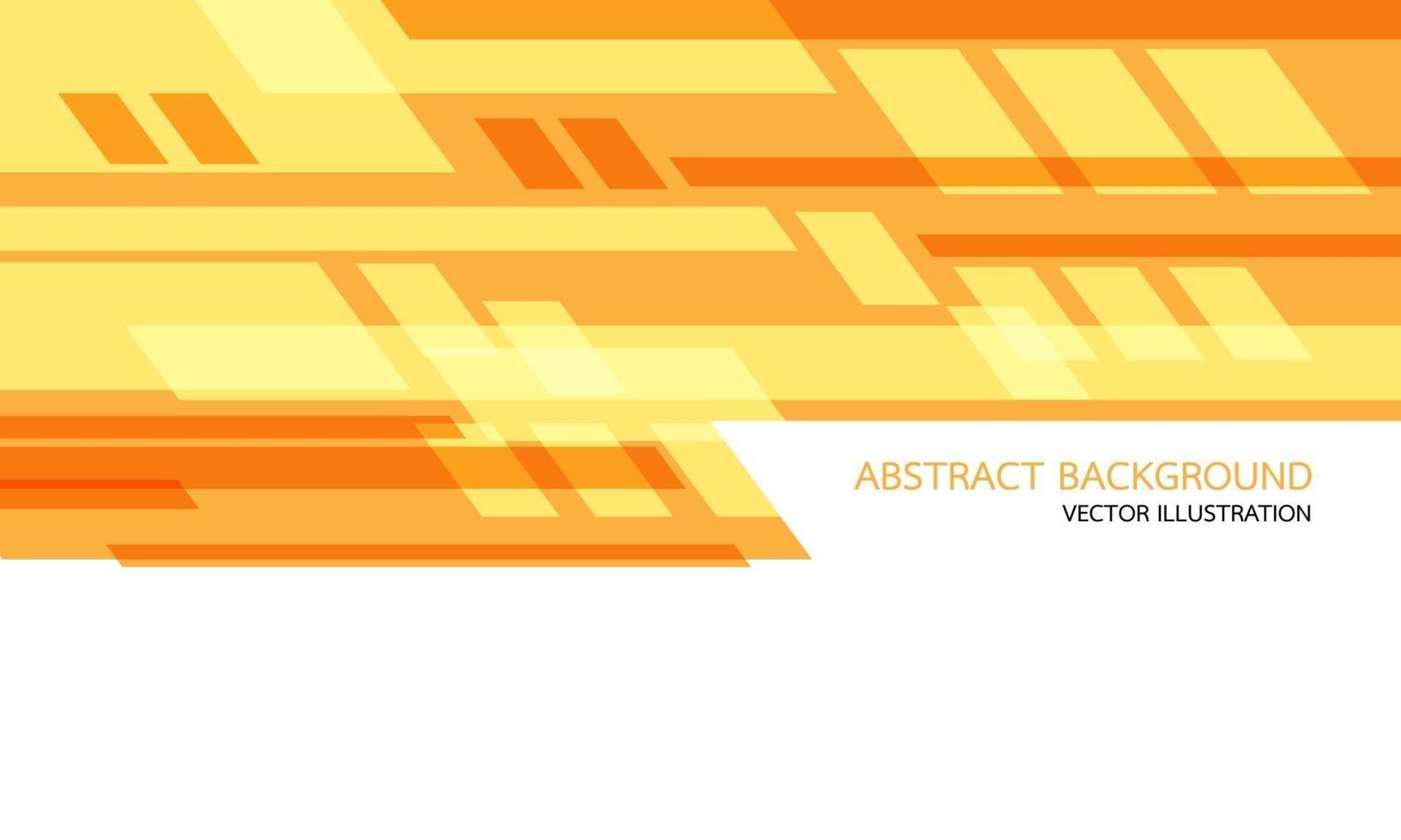 abstracte geeloranje geometrische snelheidstechnologie op wit met lege ruimte en tekstontwerp moderne futuristische vectorillustratie als achtergrond. vector