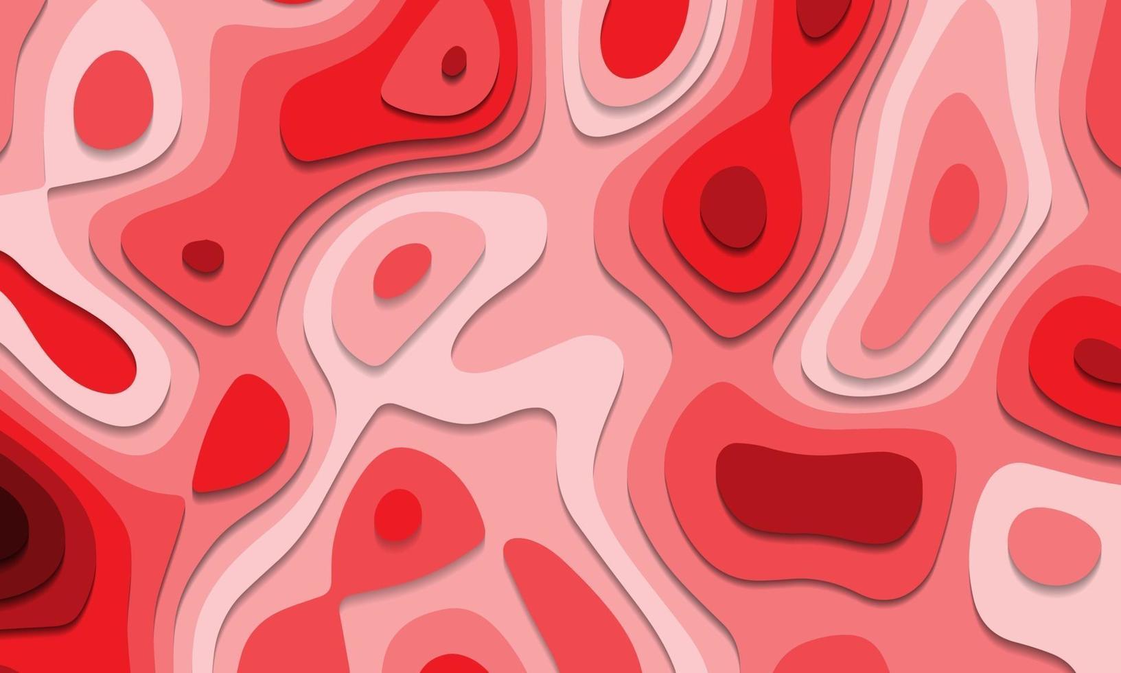 abstracte rode toon papier gesneden lagen overlappen kunst achtergrond textuur vectorillustratie. vector