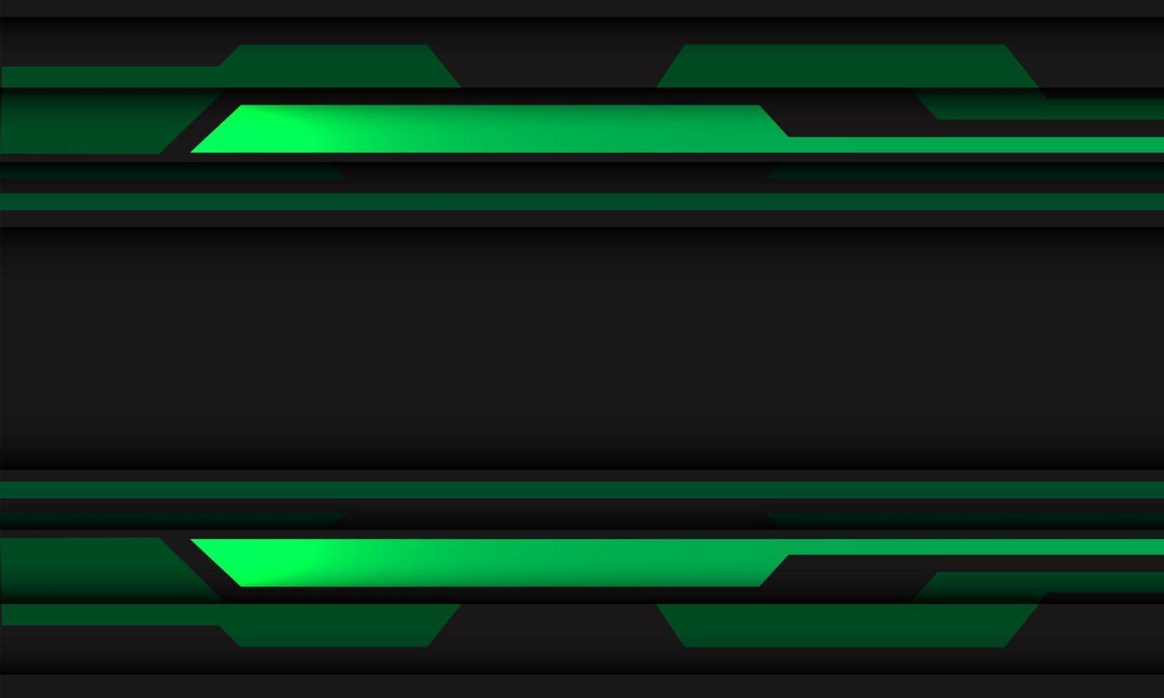abstract groen grijs circuit cyber geometrisch met lege ruimte banner ontwerp moderne futuristische technologie achtergrond vectorillustratie. vector