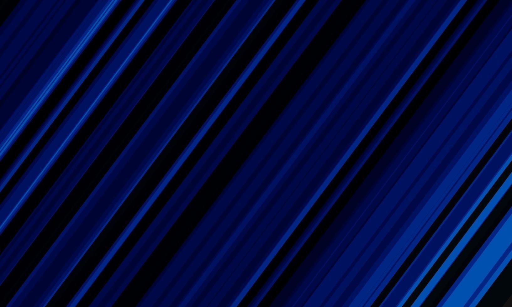 abstracte blauwe lijnsnelheid dynamisch op zwarte achtergrond vectorillustratie. vector