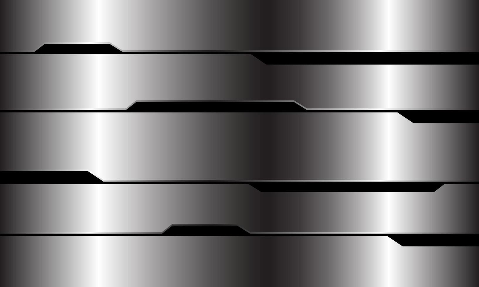 abstracte zilveren zwarte lijn circuit cyber geometrisch ontwerp moderne luxe futuristische technologie achtergrond vectorillustratie. vector
