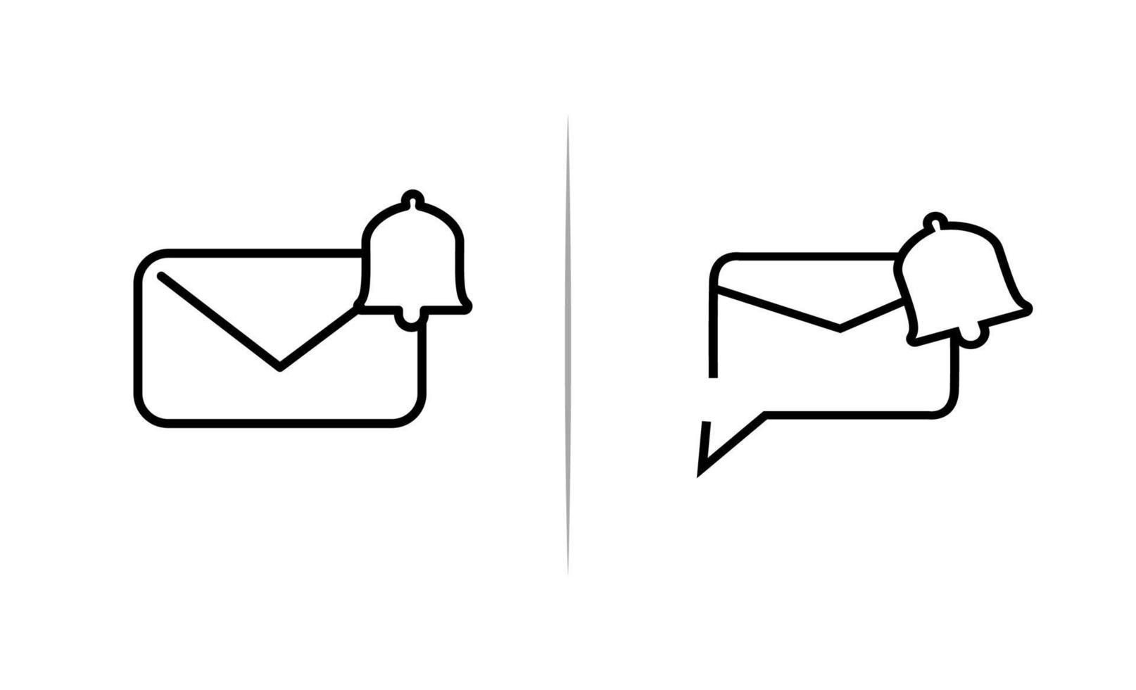 berichten meldingslijn kunst pictogrammalplaatje vector