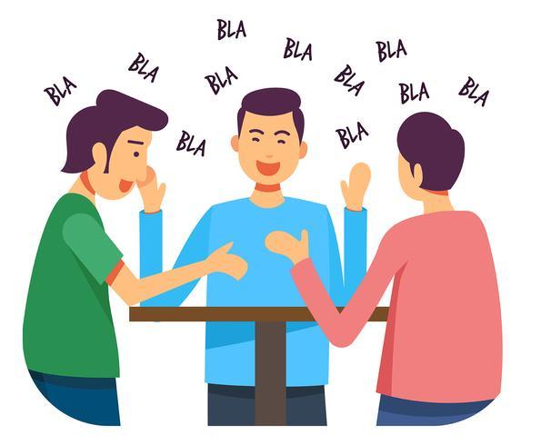 Mensen praten illustratie vector