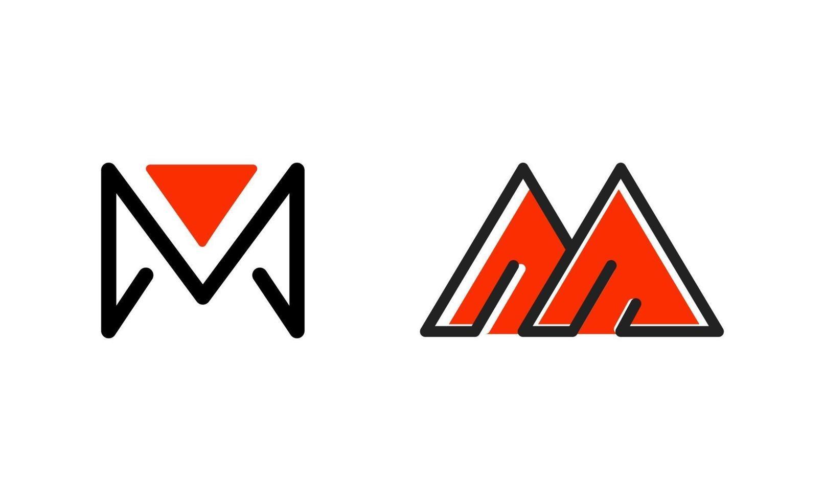 eerste m monogram logo inspiratie ontwerp vector