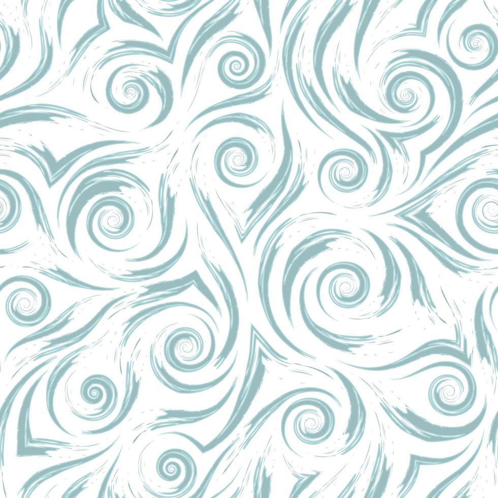 voorraad vector naadloze patroon. golven of waterspatten. abstracte textuur van blauwe penseelstreken op witte achtergrond.