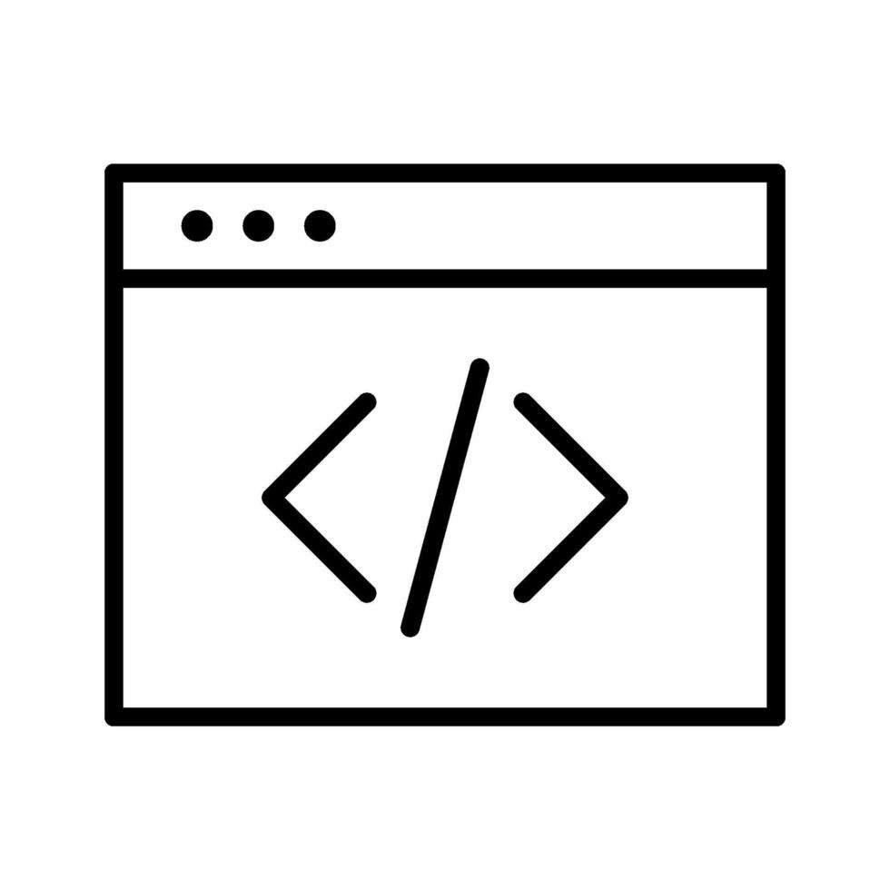 codering vector pictogram