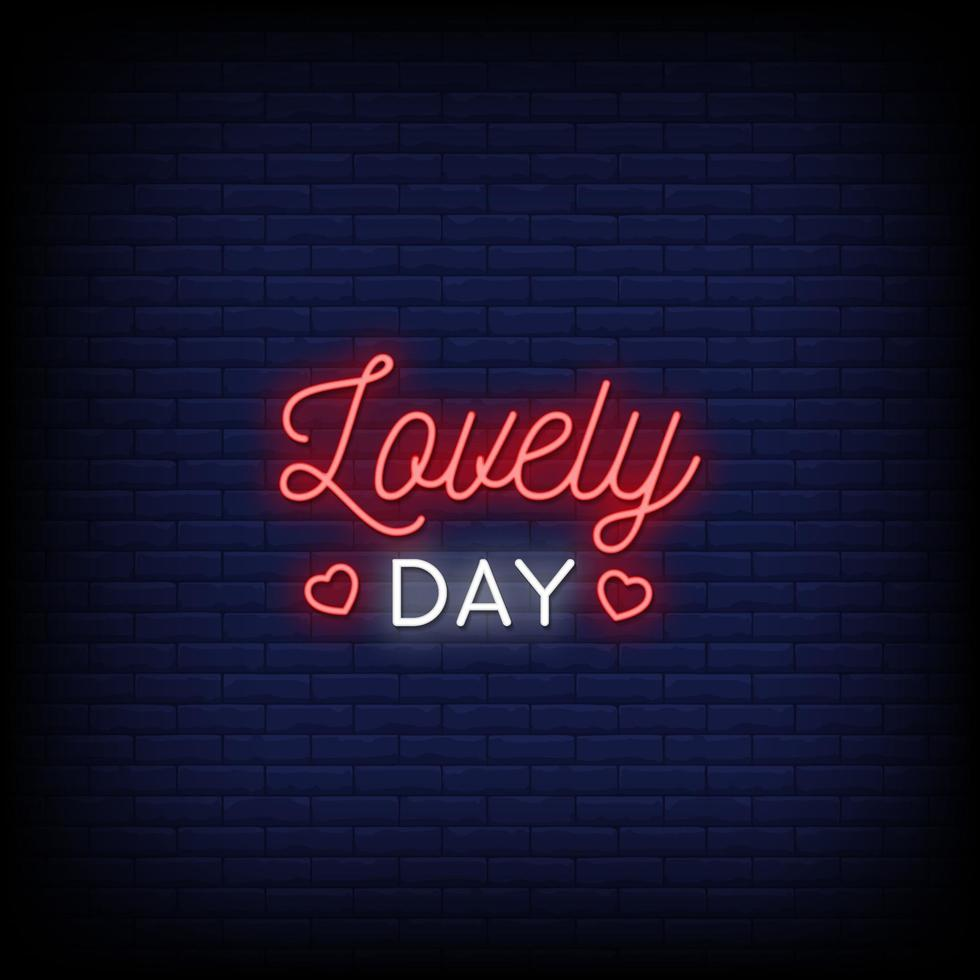 mooie dag neonreclames stijl tekst vector