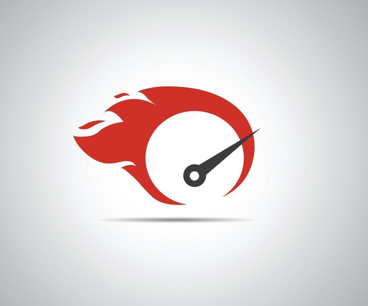 snelheid, vector logo race-evenement, met de belangrijkste elementen van de snelheidsmeter modificatie