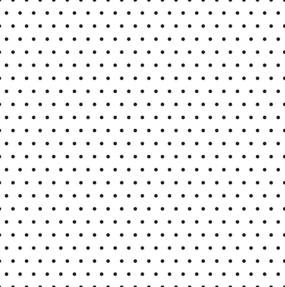 zwart-wit polka dot patroon achtergrond vector illustrator