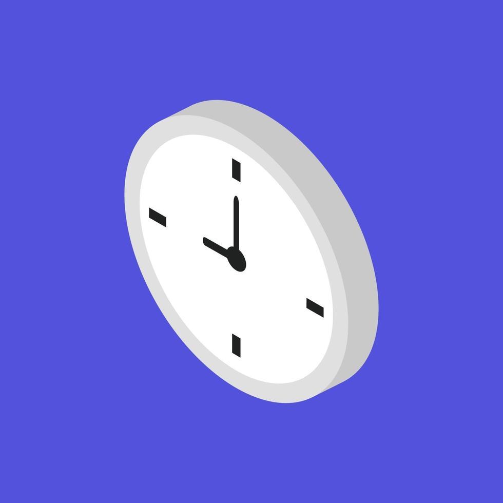 klokpictogram op de achtergrond vector