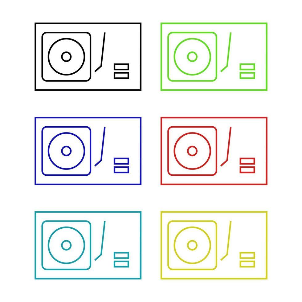 dj mixer pictogram op de achtergrond vector
