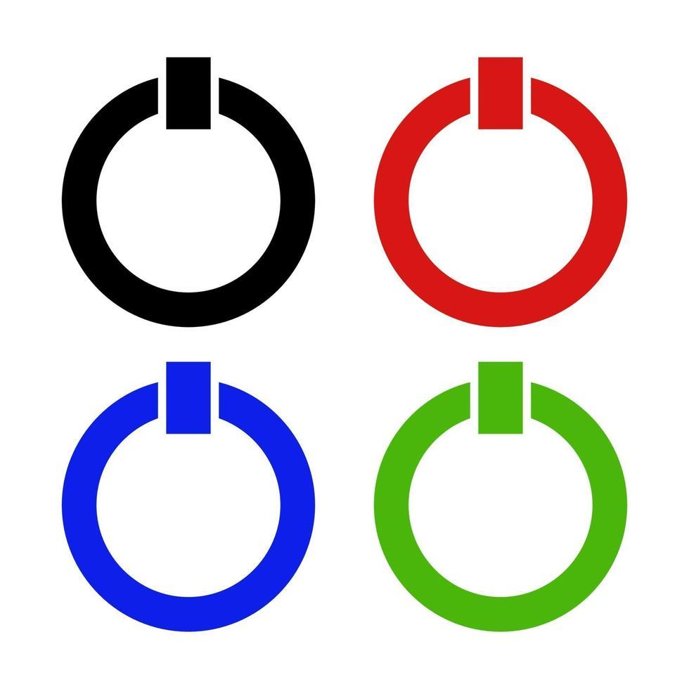 power-knoppictogram op de achtergrond vector