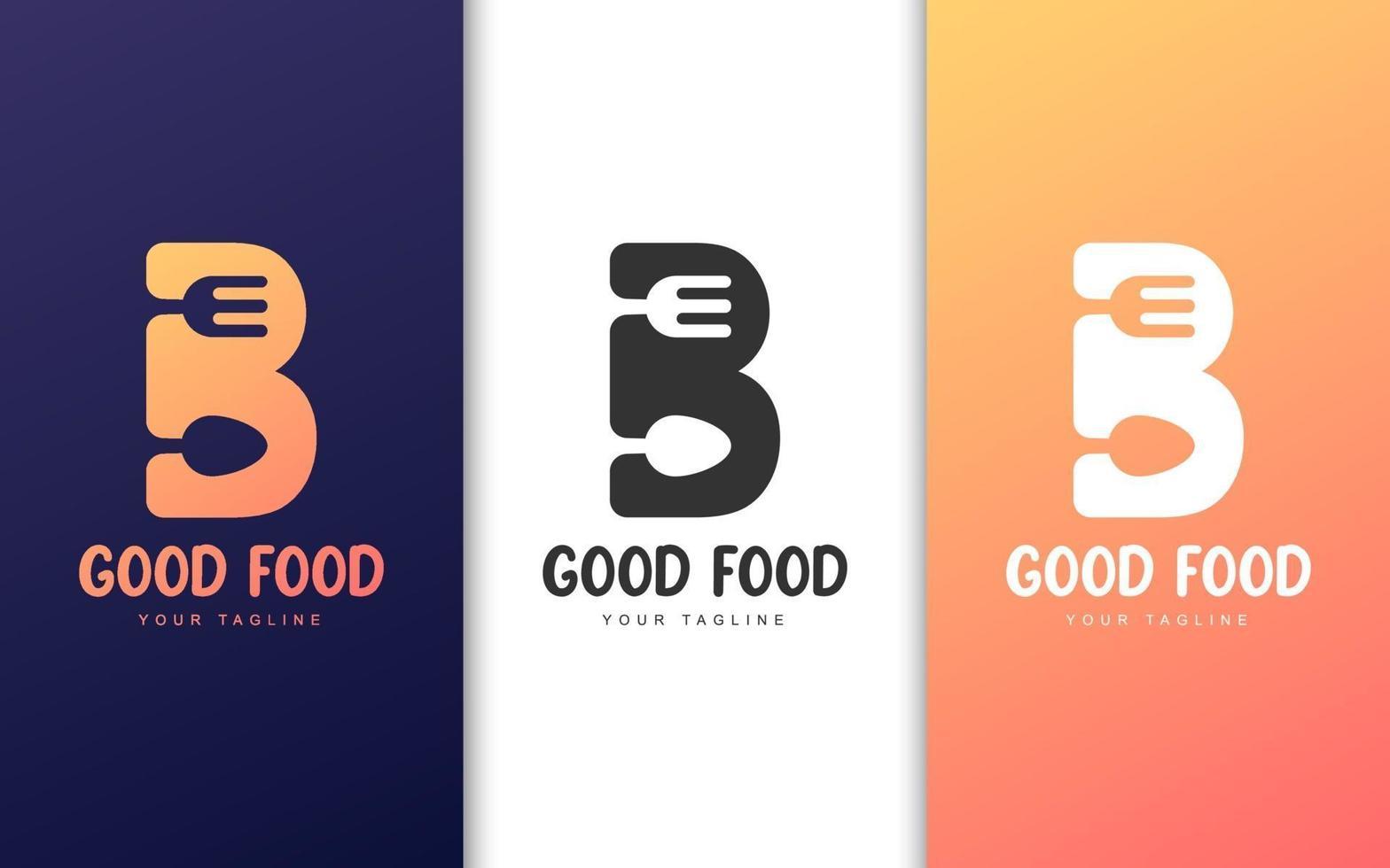 letter b logo ingesteld vector